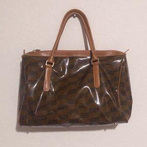 Vintage balengiaga monogram coated canvas handbag!